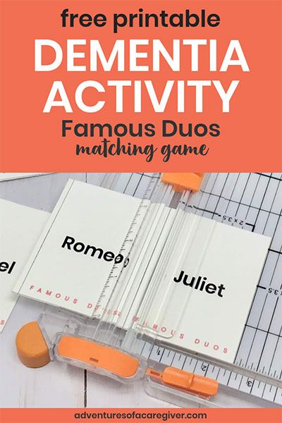 image relating to Free Printable Activities for Dementia Patients referred to as Renowned Duos Absolutely free Printable - Alzheimers and Dementia