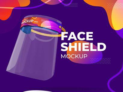 Face Shield Mockup Macbook Mockup Face Shield Mockup