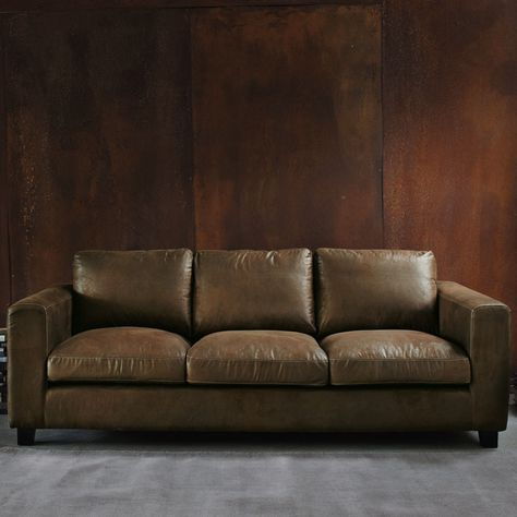 3 Seater Imitation Suede Sofa Bed In Brown Maisons Du Monde