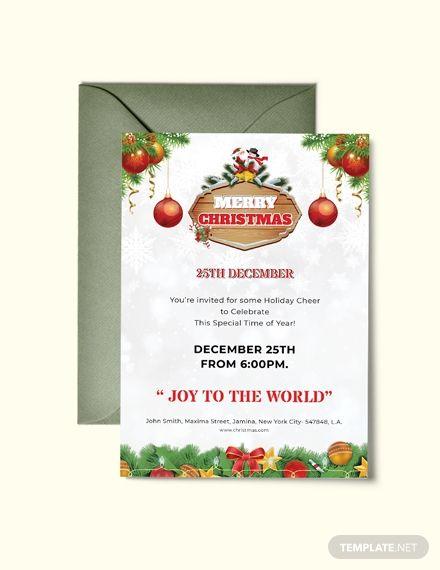 Free Merry Christmas Invitation Flyer Christmas Games