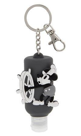 Disney Keychain Hand Sanitizer Steamboat Willie Disney