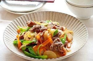 たっぷり野菜と牛肉の焼肉風炒め レシピ 作り方 レシピ レシピ