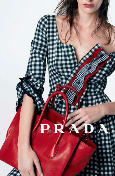 Prada campaign - This inspires me. Think of finding a simple dress and upping the interest by adding a ruffled placket.