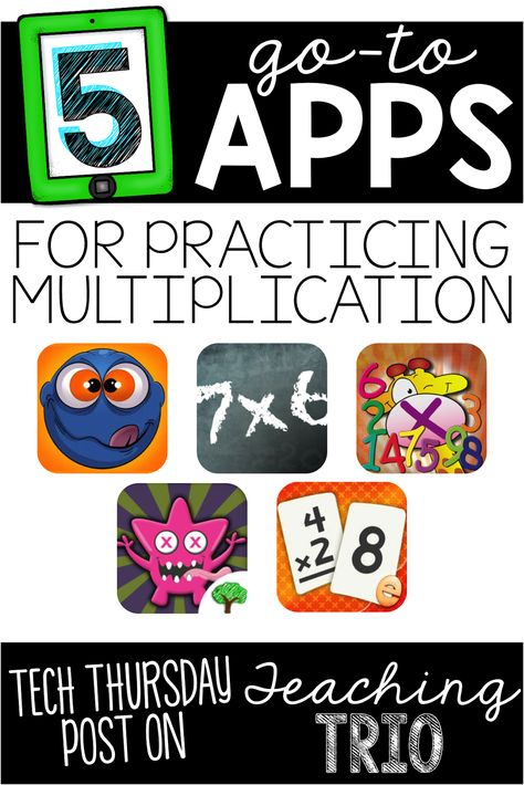 Teaching Trio-Classroom resources, teaching ideas, & tech tips from three elementary teachers who love teaching, learning, & sharing with our readers! Learning Multiplication Facts, Math Facts, Teaching Math, Teaching Ideas, Math Fractions, Teaching Spanish, Math For Kids, Fun Math, Math Activities