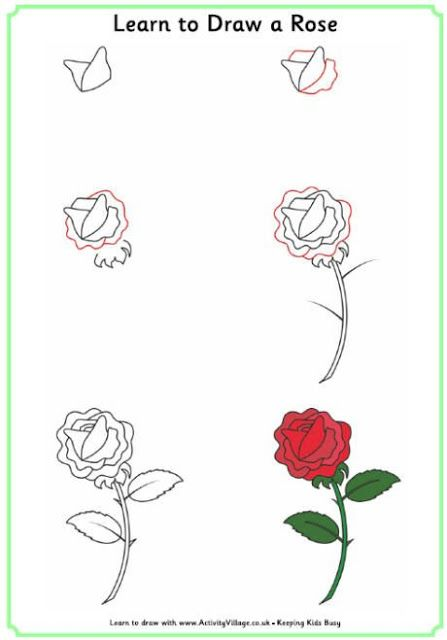 طريقة رسم وردة خطوة بخطوة للمبتدئين Learn To Draw Flowers Roses Drawing Flower Drawing