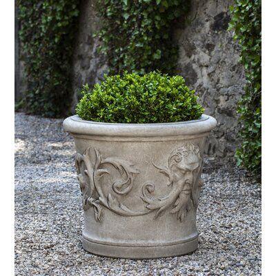 Astoria Grand Cynda Cast Stone Pot Planter Wayfair In 2020 Stone Planters Cast Stone Planters