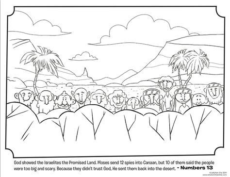 12 spies coloring sheet | ... moses to pick leaders from each of ...