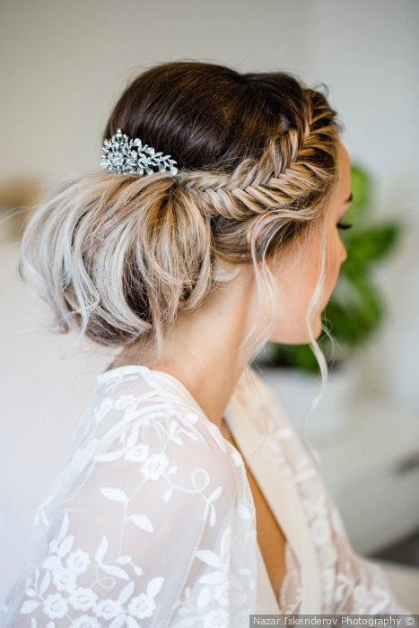 Aystar Bridal Hair Buns Open Hairstyles Bride Hairstyles