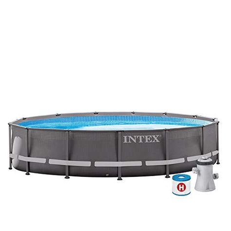 Intex Kit Piscine Prism Frame Ronde Tubulaire 3m05 X 76cm