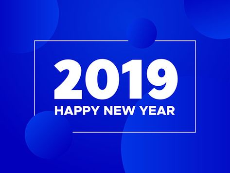 2019 happy new year background modern greeting card or flyer design for winter holidays celebrationtypography design yurlick shutterstock design for