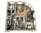 Towson Promenade Towson Md Apartments Com Plan O B2i 2 044 5 239 1 695 1 821 Sq Ft Baltimore Apartment Bedroom Floor Plans Apartment