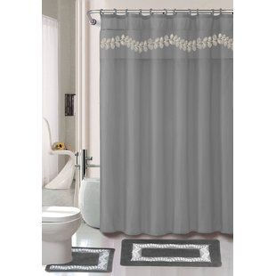 Charlton Home Kitts 18 Piece Shower Curtain Set Wayfair With