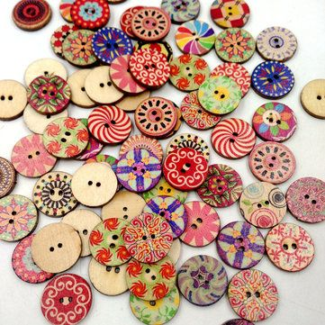 outil de couture des boutons en bois le scrapbooking carfts de bricolage