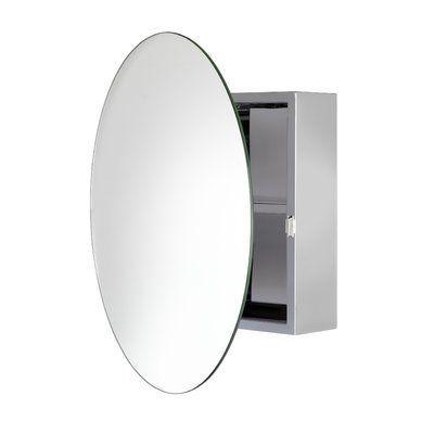 Mercury Row Yeung 19 7 X 19 7 Surface Mount Frameless 1 Door Medicine Cabinet With 1 Shelf Wayfair In 2020 Round Mirror Bathroom Mirror Cabinets Bathroom Mirror Cabinet