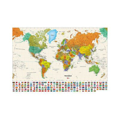 1 WALL WORLD MAP WALLPAPER WALL MURAL 2.32m x 1.58m NEW