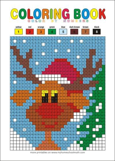 Color by numbers - free printable pages for kids   Free printable ...