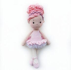 Amigurumi Pretty Ballerina Girl doll crochet toy