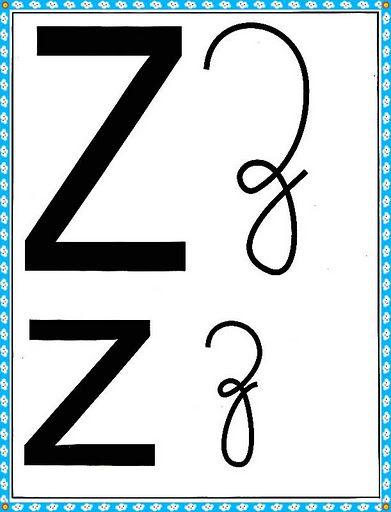 Cartazes Do Alfabeto Quatro Tipos De Letras Com Margem Azul