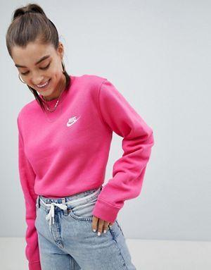 genuine shoes new product promo code Nike Club - Sweat-shirt avec logo virgule - Rose | with ...