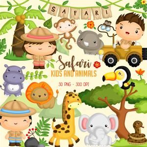 Cute Zoo Animals Clipart Png Eps Australian Animals Clipart Jungle Baby Shower Tropical Flamingo Clipart Elephant In 2021 Animal Clipart Safari Kids Animals For Kids