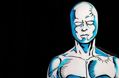 Silver Surfer Body Paint – Cris Alex