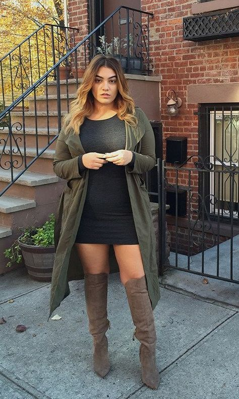 Learn how to trend during the knee shoes, over the knee boots outfit ideas, fall styles, winter style. over the knee boot outfit winter