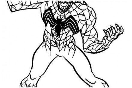 Coloriage Spiderman Attaque De Venom Coloriagespiderman