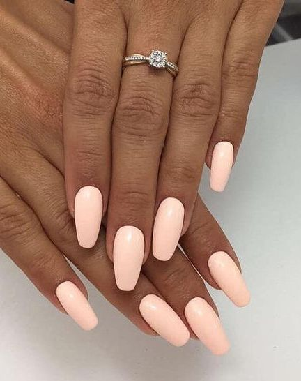 61 Summer Nail Color Ideas For Exceptional Look 2019 Peach