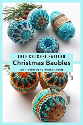 Crochet Christmas Baubles to decorate your home for the Holidays. Free crochet pattern with tutorial to make these easy baubles Crochet Christmas Baubles to decorate your home for the Holidays. Free crochet pattern with tutorial to make these easy baubles Crochet Christmas Decorations, Christmas Crafts, Diy Crochet Ornaments, Free Christmas Crochet Patterns, Christmas Baubles To Make, Crochet Ornament Patterns, Crochet Christmas Gifts, Crochet Decoration, Christmas Tables