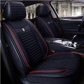 Classic Bright Line Pattern Attractive Design Universal Car Seat Covers Car Seats Leather Car Seat Covers Custom Car Interior