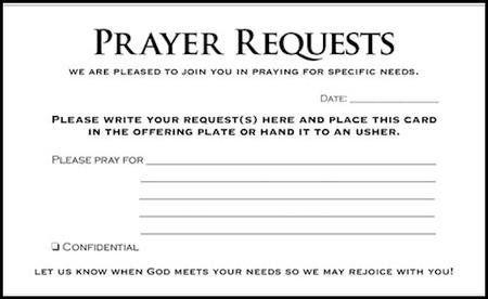 Prayer Request Cards 50 Prayer Request Prayer Ministry Prayers