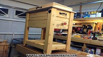 Free Plans To Build A Portable Deck Cooler Bar And Stand Youtube Ice Chest Cooler Wooden Cooler Patio Cooler