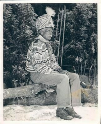 1955 Billy Bowlegs Seminole Indian 104 Years Old Patriarch Florida Press Photo