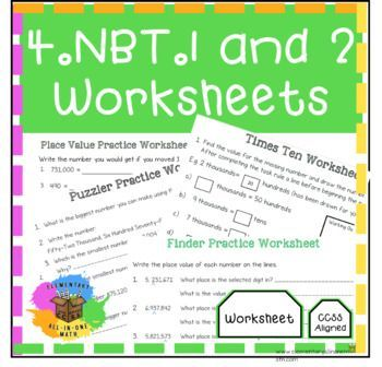 4 Nbt 1 4 Nbt 2 Worksheets Place Value Understanding Math Expressions Place Values Worksheets In 2021 Math Expressions Guided Math Lessons Common Core Math Standards