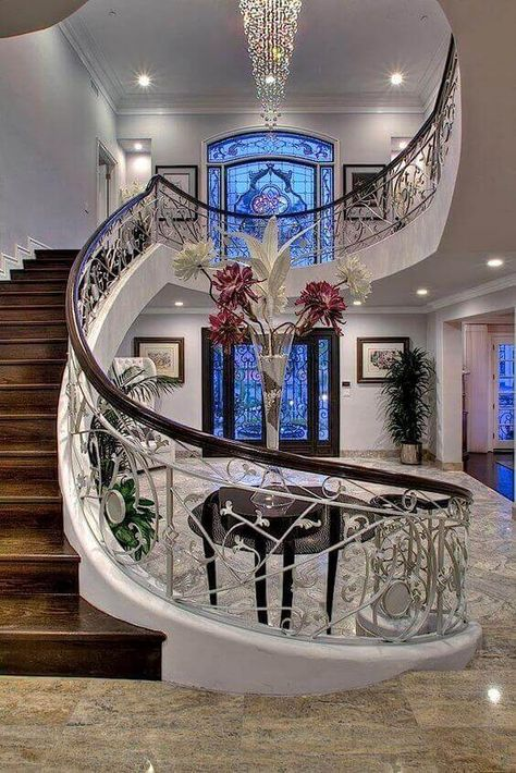 From simple to open show off luxury spiral staircase ideas, we have found so many different examples, you will have a hard time on deciding what to go for. For more like this go to betterthathome.com #homedesignideas #homedesign #homeideas #interiordesign #homedecor #spiralstaircase #stairs #staircases #spiralstaircase