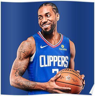 Kawhi Leonard La Clippers Poster La Clippers Basketball Nba Legends