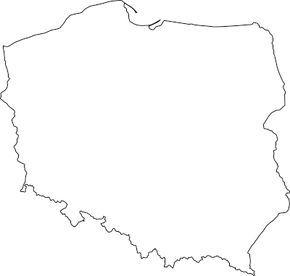 Kontury Polski W Pdf Do Wydruku Polska Mapa Geografia