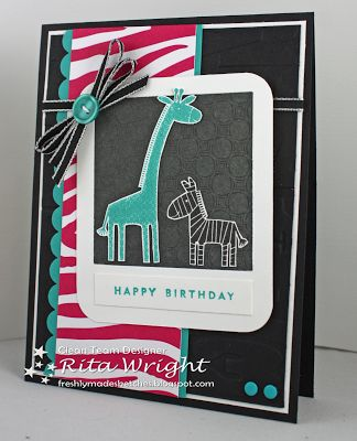 Rita's Creations: Stampin' Up! Zoo Babies