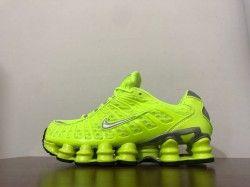 chocolate Indígena Alboroto  Nike Shox TL Fluorescent Green Men's Running Shoes in 2020 | Nike shox,  Running shoes for men, Shox