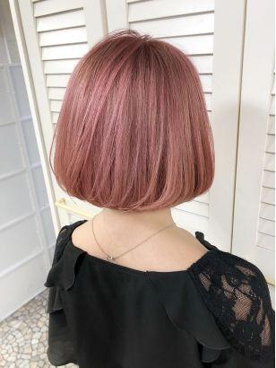 2019年春 ショート ピンクの髪型 ヘアアレンジ 人気順 42ページ目