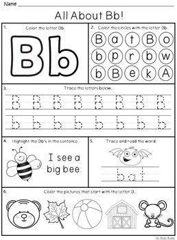 Alphabet Letters A Z Kindergarten Alphabet Worksheets Distance