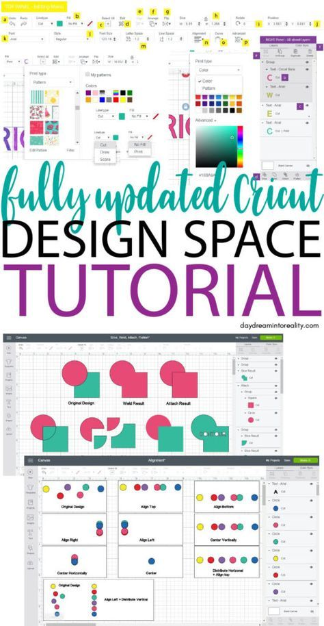 Full Cricut Design Space Tutorial For Beginners – 2020 Full Cricut Design Space Tutorial For Beginners - January 2019 Update Design Typography, Design Logo, Web Design, How To Use Cricut, Cricut Help, Cricut Air 2, Design Thinking, Free Svg, Cricut Craft Room