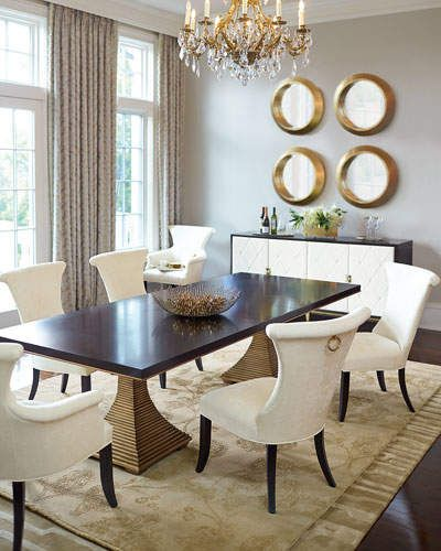 Bernhardt Paltrow Double Pedestal Table Ad Diningroom Side Chairs Dining Beautiful Dining Rooms Luxury Dining