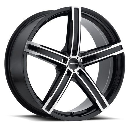 17 Inch 5x110 4 Wheels Rims Vis Vis 469 17x7 38mm Black Machined Walmart Com In 2020 Wheel Rims Rims Black Wheels