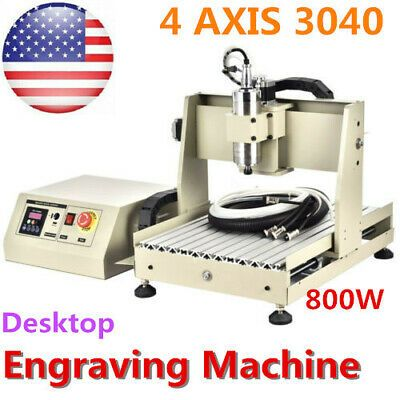 Ebay Sponsored 4 Axis 800w Cnc 3040 Router Engraver Pcb Wood Engraving Drilling Milling Machine In 2020 Wood Milling Machine Diy Cnc Router Milling Machine