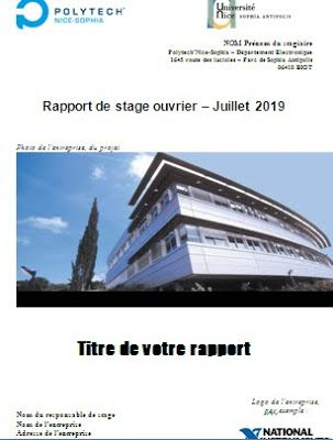 Rapport De Stage Bibliothèque Nationale De France Rapport