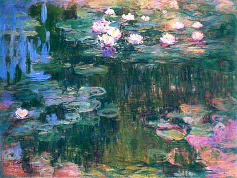 Hand Painted Reproduction Of Water Lilies This Masterpiece Was Painted Originally By Claude Monet. Historical center Quality Handmade Oil Painting Reproduction Oil Painting On Canvas. Water Lilies Painting, Monet Water Lilies, Kunst Inspo, Art Inspo, Art And Illustration, Monet Paintings, Abstract Paintings, Painting Art, Landscape Paintings