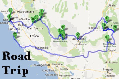 west coast usa road trip   Road Trip dans l'Ouest américain // Vacances d'été 2012