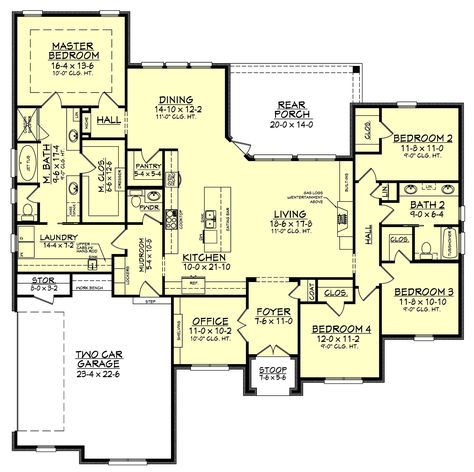 Colin House Plan 4 Bedroom House Plans Bedroom Floor Plans Open House Plans
