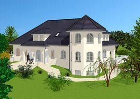 Hauspläne landhaus alternative vorderansicht mit exklusivem turm hauspläne
